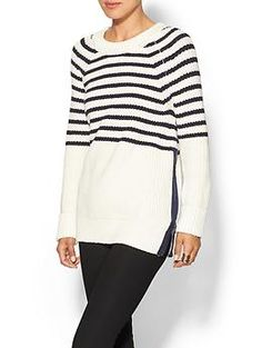 Obsessed with everything about this - the stripes, the zipper detail, the loose fit. LOVE! Kate Spade New York Aura Sweater | Piperlime