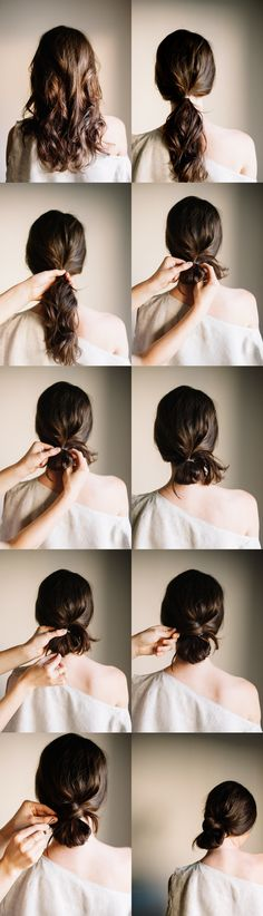 DIY Low Knot - #casual #diyhairtutorial #simple