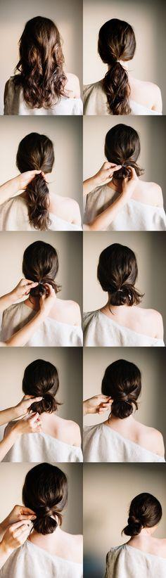 DIY Low Knot - #casual #diyhairtutorial #simple