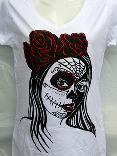 Rose Candy Skull - Brand new design by AMRON Designs! Follow the link to purchase yours today!