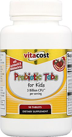 Vitacost Probiotic Tabs for Kids Strawberry