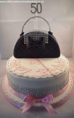 Handbag cake topper 50th birthday cake
