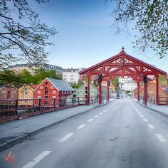 Old city bridge in #Trondheim #norway