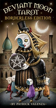 Deviant Moon Tarot-Borderless Edition by Patrick Valenza. Stylized characters and moonlit dreamscapes draw you into the luminescent world of Deviant Moon Tarot. Best Tarot Decks, Tarot Card Decks, Hermetic Tarot, Tarot Card Spreads, Tarot Learning, Romance, Learn Art, Tarot Readers, Oracle Cards