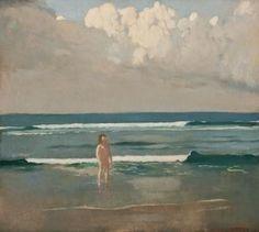 ~ Arthur Frank Mathews ~ American artist, 1860–1945: Young Bather