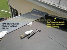 GAF StormGuard® being Installed on Low Slope Roof Moss Removal, Fascia Board, Roof Flashing, Radiant Barrier, Roofing Felt, Porch Roof, Roof Installation, Tips, Counseling