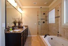 cream and dark wood bathroom ideas   Related with tiles bathroom ideas rectangle…