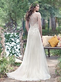 Vintage Wedding Gowns with Geometric Details - Amal wedding dress by Maggie Sottero Wedding Dresses Canada, Wedding Dresses Sydney, Vintage Inspired Wedding Dresses, Wedding Dress Shopping, Bridal Dresses, Vintage Dresses, Bridesmaid Dresses, Sheath Dresses, Dresses Dresses