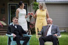 Maybe all wedding days should start this way! wedding photo #backyardwedding
