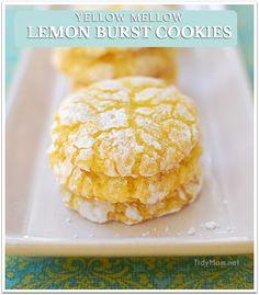 Yellow Mellow Lemon Burst cookies from TidyMom.net