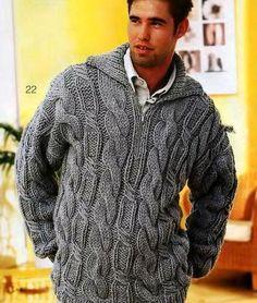 Мужской пуловер спицами- модели 2017 с описанием - Ladiesvenue