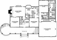Colonial Style House Plan - 4 Beds 3.50 Baths 3359 Sq/Ft Plan #137-119 Floor Plan - Main Floor Plan - Houseplans.com