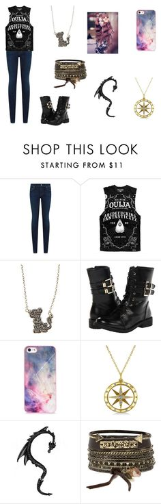"""Tate fo Desire"" by leah-holly-walker ❤ liked on Polyvore featuring Citizens of Humanity, Killstar, Disney, Shellys, BlissfulCASE, Allurez and BKE"