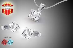 Swarovski Elements Cube Jewellery Set