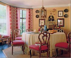 Mary MCDonald uses three fabrics on windows