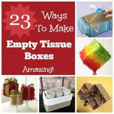 New life for empty tissue boxes.