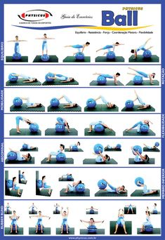FITNESS BALL EXERCISES - Check out this useful visual guide to learn the best exercises to be performed with your fitness or swiss ball! - If you like this pin, repin it and follow our boards :-) #FastSimpleFitness - www.facebook.com/FastSimpleFitness