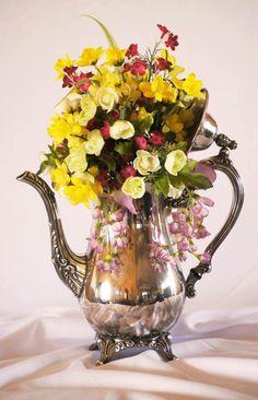 Custom silk floral arrangement for Mother's Day