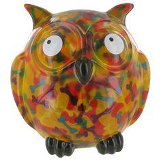 Pomme Pidou Owl Animal Money Bank - Orange