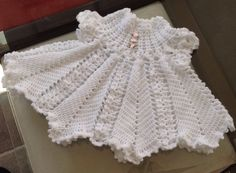 Crocheted Apple Blossom Baby Dress by SilverFoxxTreasures on Etsy, $25.00