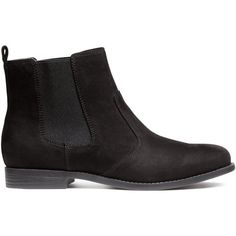 H&M Chelsea boots (150 PLN) ❤ liked on Polyvore featuring shoes, boots, ankle booties, black, kohl shoes, black shoes, chelsea bootie, beatle boots and chelsea boots