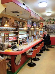 Best Sake, Bauhaus Furniture, Brew Bar, Japan Street, Cafe Style, Cafe Bar, Restaurant Bar, Coffee Shop, Cool Designs