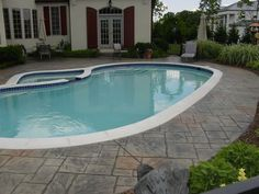 Decorative Stamped Concrete Pool Decks: Cole Concrete Maryland