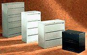 """700 Series 36"""" W Two-Drawer Lateral File Finish: Light Gray by Hon. $371.05. HON782LQ Finish: Light Gray Features: -Mechanical interlock allows only one drawer to open at a time.-Three-part, telescoping, slide suspension operates on steel ball bearings.-Four adjustable leveling glides.-Equipped with HON ''One Key'' interchangeable core removable locks. Dimensions: -Overall Dimensions:36''W x 19 1/4''D x 28.5''H. Warranty: -Covered by the HON Limited Lifetime Warranty."""