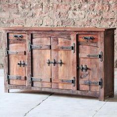 Rustica 2 Drawer 4 Door Reclaimed Wood Sideboard by Modish Living. Furniture with history and a story!