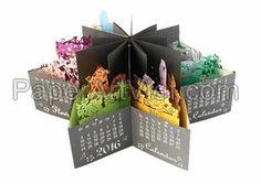 17 super ideas for craft paper brochure products Table Calendar Design, Menu Calendar, Pop Up Greeting Cards, Pop Up Cards, 3d Paper Crafts, Paper Art, Crafts For Teens, Diy And Crafts, Handmade Books