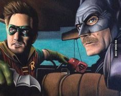 Jesse and Walt as Batman and Robin! Dc Comics Superheroes, Marvel Dc Comics, Comic Pictures, Best Funny Pictures, Breaking Bad Tv Series, Breakin Bad, Star Trek, Fanart, Funky Art