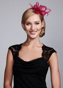 Add a royal touch to your hairstyle with this stylish feather fascinator!  Available in Black f74d2f84c385