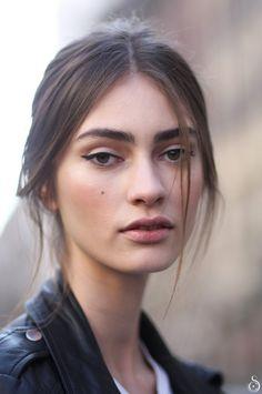 "runwayandbeauty: "" Marine Deleeuw after Dolce & Gabbana Fall/Winter 2014-15 by Stefano Carloni """