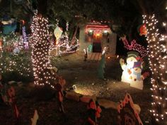 """""""Justin's Castle"""" was one of the themed vignettes along the Walkway of Lights in Wimberley in December 2013. Photo: Terry Scott Bertling / San Antonio Express-News"""