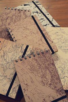 Diseña Santa Fe · Edición Navidad 2013 #notebook #cardboard #paper #map #casabuu