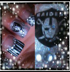 Oakland Raider Nails