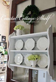 Coastal Cottage Shelf Using Old Fence Pickets!
