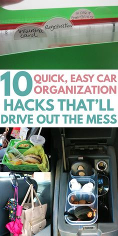 Cars hacks 2019 CAR ORGANIZATION is easy with these creative DIY ideas. Find tricks and hacks such as a secret compartment in the front seat cup holder, Car Organization Kids, Trunk Organization, Organizing, Organisation Ideas, Trash Can For Car, Car Trash, Best Small Cars, Car Seat Organizer, Car Console