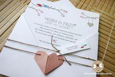 Convite com origami de coração « Abelha Design
