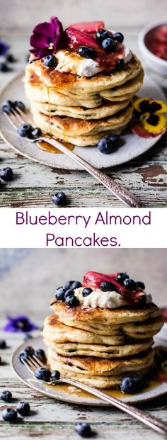 Blueberry Almond Pan