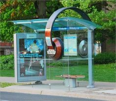 QR Code Headphones Decorate Bus Shelter | QRiousCODE | Scoop.it