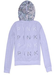 Go everywhere in the Velour Zip Hoodie from Victoria  s Secret PINK