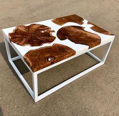 White River Coffee Table with Live Edge Teak Slabs Epoxy Table Top, Wood Resin Table, Restore Wood, Pallet Beds, Resin Artwork, Cool Tables, My Home Design, Wood Tree, Dog Bowls
