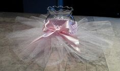 Tutu vase centerpieces with tulle flowers perfect by JayLeeDesign