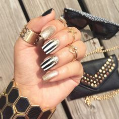 We're loving this ultra glam mani by @mserna6! Shop the rings and accessories at Charlotte Russe!