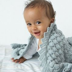 Плед детский ажурный спицы - описание, схемы + фото