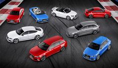 The Audi RS model range including the mighty RS 4 and RS 6 Avant