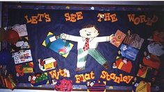 Let's See the World with Flat Stanley Recount Writing, Writing Traits, Bulletin Board Display, Bulletin Boards, Flat Stanley, Career Exploration, Teacher Helper, Book Week, Travel Themes