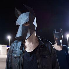Máscara de perro doberman hacer tu propia máscara por Wintercroft