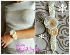 Handmade bracelet from the Snow Princess collection. Princess Collection, Handmade Bracelets, Napkin Rings, Snow, Decor, Decoration, Decorating, Eyes, Napkin Holders